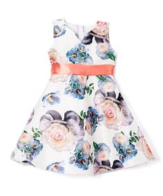 Loving this White Rose A-Line Dress - Infant, Toddler & Girls on #zulily! #zulilyfinds