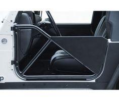 SRC Tubular Doors Rear 97-06 Wrangler TL/LJ Black Textured SmittyBilt