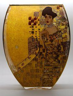 Vase en verre Gustav Klimt : Adèle Bloch, Goebel