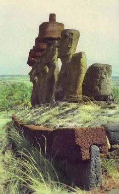 """When the ancient Sumerian gods created man, he was called 'Adamu'. A-da-mu, or """"Man of Earth"""", """"Earthling"""" – also, """"father of mother (da-a-… Easter Island Moai, Easter Island Statues, Ancient Aliens, Ancient History, Machu Picchu, Mystery Of History, Ancient Artifacts, Ancient Civilizations, Places Around The World"""