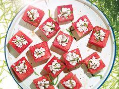 Feta-Stuffed Watermelon Blocks