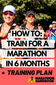 Our complete guide on how to train for a marathon in six months! Complete with a training plan and notes on how to use it! Marathon Training For Beginners, Running For Beginners, Half Marathon Training, Marathon Running, Speed Training, Running Training, Running Tips, Running Shoes, Marathon Tips