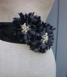 Black Bridal Sash