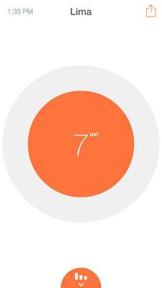 Suny - UV Meter By Diego Cruz  ios app Mobile Ui Design, App Design, User Interface Design, Interface App, User Experience Design, Health App, Ios App, Mobile App, Aging Parents