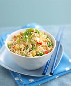 Vegetarian Nasi Goreng Recipe from Annabel's App - Essential Guide to Feeding Baby's and Toddlers.