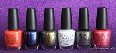 OPI's Amazing Spiderman collection.  Not a huge fan of Spiderman but I do like some of these colors.