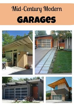 1000 images about home on pinterest glass garage door for Mid century modern garage