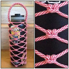 40 oz candy cane paracord hydro flask wrap.
