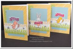 CTMH Penelope paper and Spring Critters stamp set and thin cuts