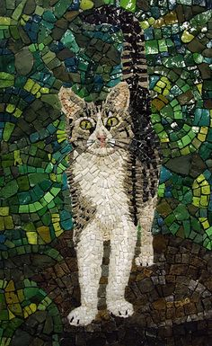 cute cat mosaic