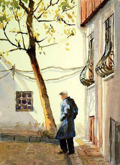 "Dede - Grandfather | Watercolor, 5""x7"" Daily Paintng | Mineke Reinders | Flickr"