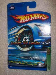2006 Treasure Hunt #4 Custom 1959 Cadillac #2006-42 Collectible Collector Car Mattel Hot Wheels by Hot Wheels. $12.00. Fun For All Ages! Serious Collectors And Kids Alike!. A Perfect Addition To Any Hot Wheels Collection!. Diecast Metal Hot Wheels Car Perfect For That Hot Wheels Collector!. Great Investment For Any Hot Wheels Collector.. Perfect Hot Wheels Diecast for every collector!. 2006 Treasure Hunt #4 Custom 1959 Cadillac #2006-42 Collectible Collector Car Mattel Hot Wheels