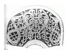 11th century (middle to late?) Alskoga Church, Gotland, Sweden. Ornamented saddle part.