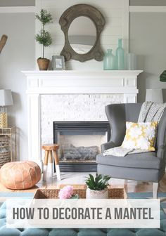 Simple tips for decorating a mantel in any season