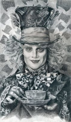 Mad Hatter - Johnny Depp HQ by th3blackhalo on deviantART ~ pencil