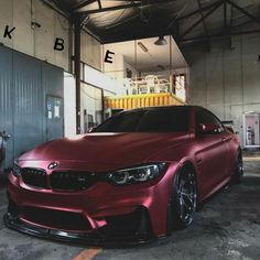 BMW with Metallic Deep Red paint.