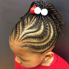 Creative Cornrows With Twisted Ponytail