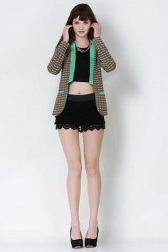 Retro Raid Minty Jacket−Women Outerwear