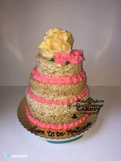 Rice Krispy Treat Cake #bridalshowercake