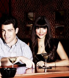 Max Greenfield and Hannah Simone/Schmidt and Cece