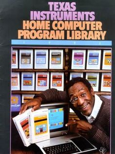 Texas Instruments (TI-99/4A) ad featuring Bill Cosby 1982.