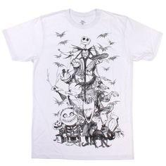 Disney Men's The Nightmare Before Christmas Sketch Slim Fit T-Shirt - http://www.fivedollarmarket.com/disney-mens-the-nightmare-before-christmas-sketch-slim-fit-t-shirt/