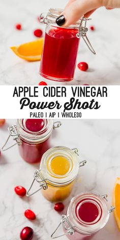 These DIY apple cider vinegar power shots are a nutrient powerhouse! They make perfect DIY gifts and are a must-have to store in your fridge. They're sugar-free and are easy to make at home! These DIY apple cide Apple Cider Vinger, Apple Cider Vinegar Shots, Apple Cider Vinegar Remedies, Apple Cider Vinegar Benefits, Natural Remedies For Anxiety, Natural Cough Remedies, Cold Home Remedies, Natural Cures, Natural Healing