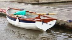 The Duchess Rowing Boat is an elegant and distinctive fibreglass boat. Full of character, built exclusively by Heyland Marine and manufactured in England. Row Row Your Boat, The Row, Small Boats For Sale, Michigan Lake House, Row House Design, Small Lake, Dinghy, Boat Building, Rowing