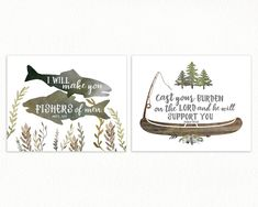 Fishing Nursery Prints for Boys - Set of Two Bible Verse prints for your Rustic Woodland Nursery or Camping Adventure Nursery! Boy Nursery Themes, Baby Boy Nurseries, Nursery Prints, Nursery Boy, Nursery Ideas, Nursery Decor, Nursery Inspiration, Nursery Design, Baby Cribs