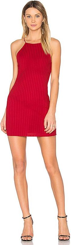 NBD Megan Mini Dress in Red. - size L (also in M,S,XL) NBD Megan Mini Dress in Red. - size L (also in M,S,XL) Set forth to break some hearts in the Megan Mini Dress by NBD. Stretchy wide rib knit sensually embraces the body while slim shoulder straps add even more sultry allure.. Self: 90% poly 10% spandexLining: 95% poly 5% spandex. Hand wash cold. Fully lined. Rib knit fabric. Back keyhole with button and zipper closure. NBDR-WD745. NBDR3828WH. For the girl who's the life of the part..