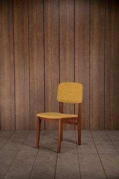 chaise scandinave jaune amol