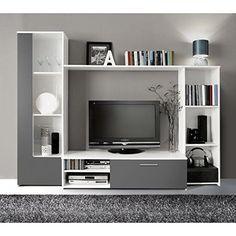 Finlandek meuble tv mural pilvi 220cm blanc et gris FINLA…