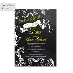 Chalkboard Pink Swirls Banner Love Save the Date Invitation - Digital or Printed Save The Date Invitations, Bridal Shower Invitations, Modern Invitations, Invites, Shabby Chic Yellow, Floral Save The Dates, To My Future Husband, Vintage Floral, Wedding Planning