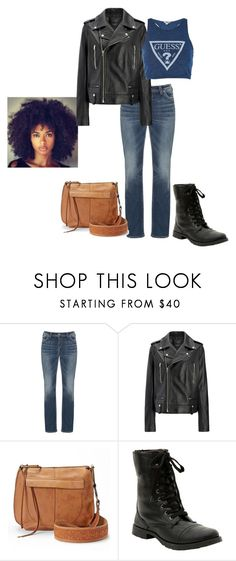 """""""Story of a Girl"""" by emerierose ❤ liked on Polyvore featuring Silver Jeans Co., Joseph, T-shirt & Jeans, Hot Topic and Topshop"""