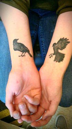 Stylized Black Birds.