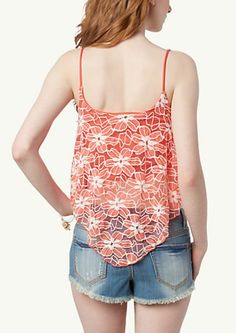 image of Daisy Lace Crop Swing Tank
