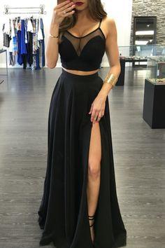 Sezy slim sexy sleeveless dress slit hollow sling