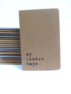 my london days   Screen printed Moleskine notebooks by Alfamarama, £4.50