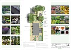 Presentatieposter tuinontwerp gezinstuin te Alphen aan den Rijn