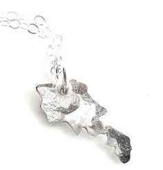 Armenian Necklace..Map of Armenia.  Sterling silver or gold fill.    Map of Armenia in miniature..1/2 tall..super dainty, on a dainty chain.