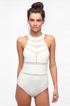ShopStyle: Sparkle & Fade Mesh Block Bodysuit $39
