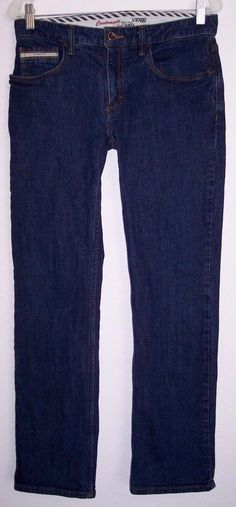 Vans Jeans 30 Men's Straight Leg Stretch Denim Dark Indigo Wash Pants 30 X 30 #VANS #Straightleg