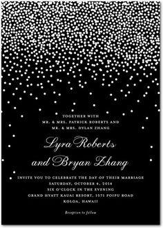 Signature White Wedding Invitations Diamond Sky - Front : Black  @Laura K   in the blue color