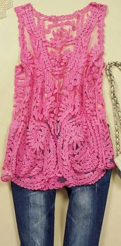 COWGIRL GYPSY TOP Blouse Sheer Crochet Lace Sleeveless Western - $28.50