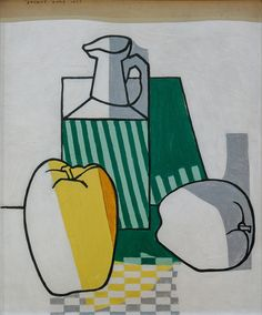 Stuart Davis, Apples and Jug, 1923 Still Life Painting, American Art, Art Painting, Museum Of Fine Arts, Painting, Pop Art Painting, Art, Art History, Art Exhibition