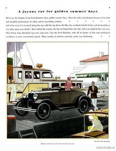 1930 Model A Ford Ad. More Car Pictures:  http://carpictures.us