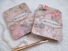 New item in my shop, Wedding Vow Books and matching keepsake box. Love the peach and pink with cream colors.