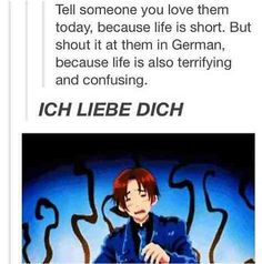 So doing this -hopefully they don't understand German-