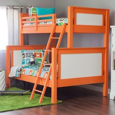 Bunk Beds..w Dwell Kids transportation-themed bed sheets. Love it.  via Apartment Therapy