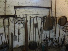 Kylemore Abbey Walled Gardens -Gardener's tools